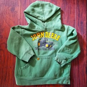 JOHN DEERE BOYS MEDIUM 5/6 GREEN HOODIE